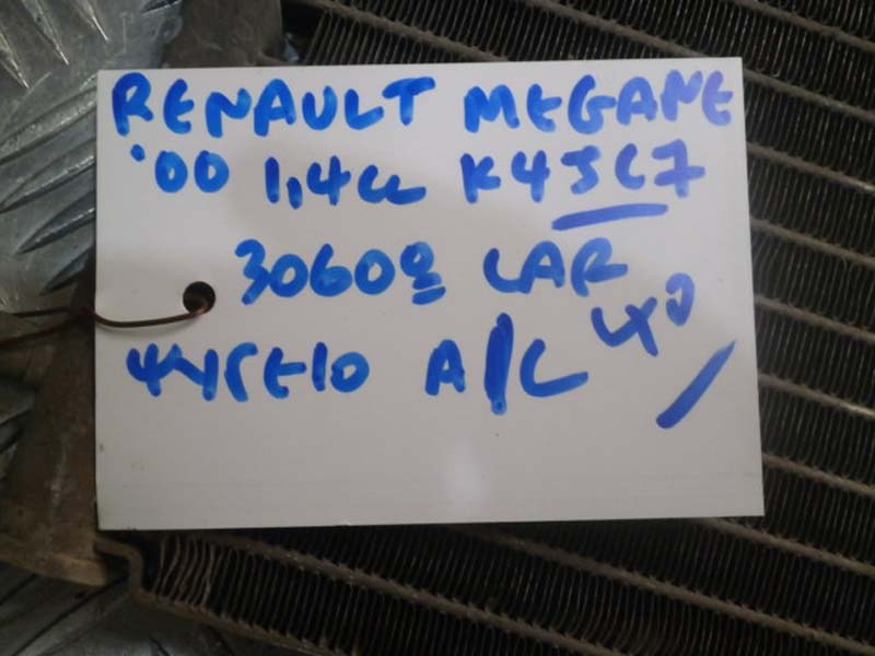 RENAULT MEGANE 00 1.4cc K4JC7 ΨΥΓΕΙΟ Α/C
